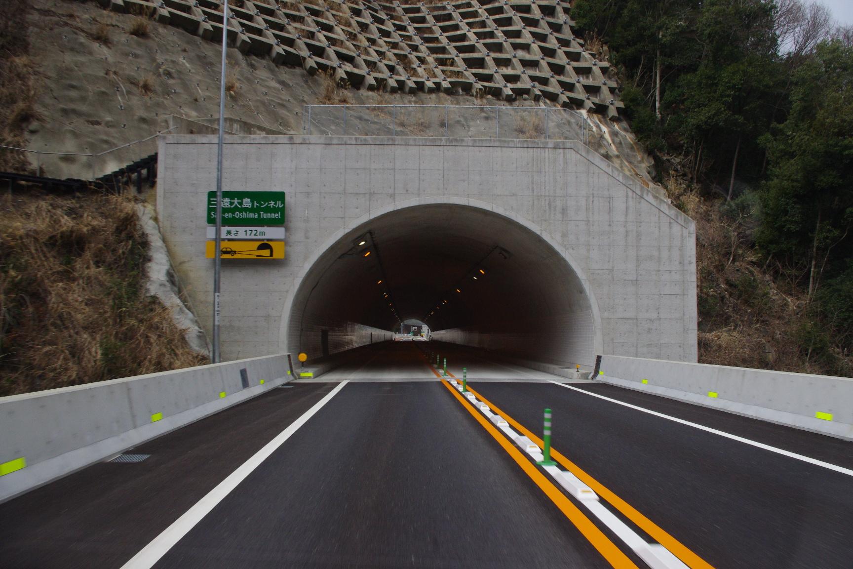 「三遠大島トンネル」172m